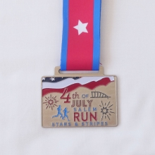 independence day run patriotic theme medal