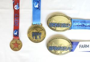 Belt buckle race medals for marathon and ultra-marathons